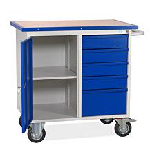 Mobil arbetsbänk SMV 5 lådor/1 skåp  1090x960x600  RAL 9002/5005