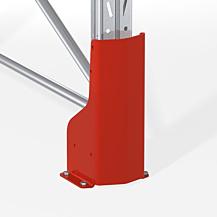 Påkörningsskydd C90 H-400 mm hög RAL 2002 röd
