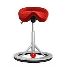 Backapp Smart alcantara röd alugrå bas med röd kula
