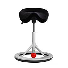 Backapp Smart alcantara svart, alugrå bas med röd kula