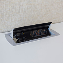 Desk Power Box Silver