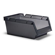 Lagerlåda Nr. 2073 350x206x150mm Transparent grå 20-pk