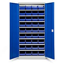 Backskåp ASPB Mod1 1980x980x570 Blå dörr Blå back