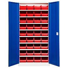 Backskåp ASPB Mod1 1980x980x470 Blå dörr Röd back