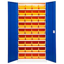 Backskåp ASPB Mod1 1980x980x470 Blå dörr Gul back