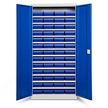 Backskåp ASPB Mod3 1980x980x670 Blå dörr