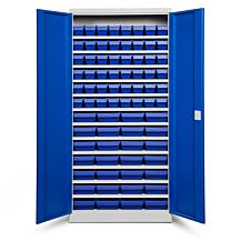 Backskåp ASPB Mod4 1980x980x570 Blå dörr