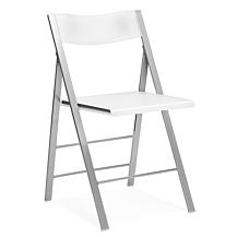 Klappstol Mini vit med alugrå stolsben